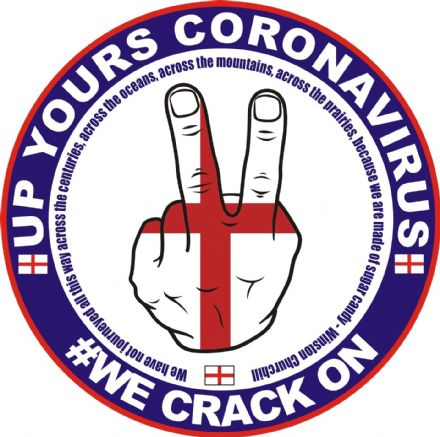 "Two Fingers ""Up Yours Coronavirus"" Window Sticker"